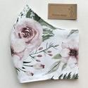 Pünkösdi rózsa mintás prémium pamut  arcmaszk, szájmaszk, maszk - Artiroka design