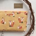 Róka a búzamezőn mintás neszesszer, tolltartó, szemüvegtok vagy irattartó prémium pamut textilből - Artiroka design