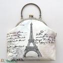 Párizs, Eiffel torony mintás táska, kézitáska, pasztell színben - Bonjour Paris - Artiroka design