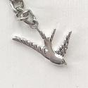 Fecske madár  kulcstartó - Artiroka design
