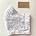 Púder - fehér csipke mintás prémium karcmaszk, szájmaszk, maszk - Artiroka design