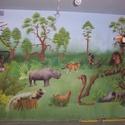 Dzsungeles falfestés, Dekoráció, Baba-mama-gyerek, Kép, Gyerekszoba, Festészet, A képeken látható Dzsungeles falfestmény mérete 15 négyzetméter, a megadott ár egy négyzetméterre v..., Meska