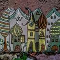 Meseváros kulcstartó falidísz, Meseváros kulcsakasztó tábla A4-es méretben, 1...
