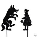 Árnyékbáb: Piroska és a farkas, Baba-mama-gyerek, Játék, Gyerekszoba, Báb, Papírművészet, Baba-és bábkészítés, Árnyékbábok a Piroska és a farkas című meséhez.  Az árnyékbábozás szokatlan, izgalmas játék, s nem ..., Meska
