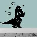 Sárkánysziluett matrica, Dekoráció, Falmatrica, Mindenmás, Fotó, grafika, rajz, illusztráció, Ismered Süsüt, az egyfejű sárkányt? Akkor te is tudod, hogy az egyfejű sárkányok a legkedvesebb sár..., Meska