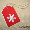 6 darabos karácsonyi ajándékkísérő kártya csomag, Dekoráció, Ünnepi dekoráció, Karácsonyi, adventi apróságok, Ajándékkísérő, képeslap, Papírművészet, Egyszerű, de mutatós ajándékkísérő kártya a karácsonyi csomagok feldíszítéséhez. Vastag, kiváló min..., Meska