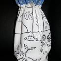 Színezhető szütyő, Mérete: 20 cm magas,  16 cm széles Az alja 10 cm...