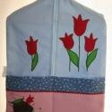Ovis zsák -  imrehszilvia  részére, Tulipán jellel. Kék, rózsaszín színekkel, sü...