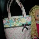 Rózsaszín, pettyes szalaggal díszített lányka táska,  Pamut vászonból készített kislány táska. Ba...