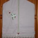 Óvodai zsák - szív jellel,  Egyedi darab.  Pamut vászon anyagból készült ...