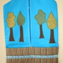 Óvodai zsák - lombos fa jellel, Pamut vászon anyagból készült óvodai zsák, f...