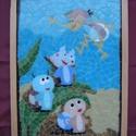 Üvegmozaik: Vízipók és a vízicsigák, Baba-mama-gyerek, Dekoráció, Kép, Gyerekszoba, Mozaik, Üvegművészet, Vízipók és a vízicsigák: színes üvegmozaik kép   31 x 23 cm  A képhez egyedileg, kézzel törtem, csi..., Meska