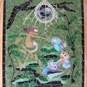 Üvegmozaik: Vízipók és a kristálypalota, Baba-mama-gyerek, Dekoráció, Kép, Gyerekszoba, Mozaik, Üvegművészet, Vízipók és a kristálypalota: színes üvegmozaik kép   34,5 x 25,2 cm  A képhez egyedileg, kézzel tör..., Meska