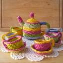 Színes horgolt  teáskészlet, A képeken látható teáskészletek már elkeltek...