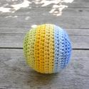 Horgolt labda, Színes pamutfonalból horgolt puha labda gyapjút...