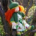 Cseperke - waldorf öltöztetős baba , Cseperke egy vidám erdei tündér kislány. Láng...
