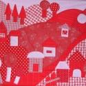 Gyermek falvédő (65x75) Piros, Baba-mama-gyerek, Gyerekszoba, Falvédő, takaró, UTOLSÓ DARAB! LEÁRAZÁS!  Egyedi gyermekfalvédő (kb. 65x75 cm) pamutvászon, vatelin betéttel, ..., Meska