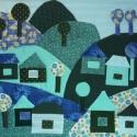 """Gyermek falvédő (65x75) Kék-zöld, Baba-mama-gyerek, Gyerekszoba, Falvédő, takaró, MEGRENDELHETŐ! Egyeztetés előtt, kérlek, NE kattints a """"Kosár"""" gombra!  Egyedi gyermekfalvédő (kb. 6..., Meska"""