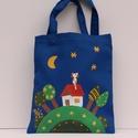 Mesés gyerektáska, Táska, Baba-mama-gyerek, Szatyor, Erős vászonból varrt táska, amit textilfestékkel festek meg. mérete:25x21cm Gyerekeknek ajánl..., Meska