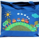 Ovis táska , Erős vászonból varrt táska, amit textilfesték...