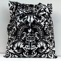 Fekete-fehér  táska, Ruha, divat, cipő, Táska, Válltáska, oldaltáska, Gyönyörű hatalmas fekete-fehér virág mintájával igazán elegáns hatást és látványt nyújtanak táskáim ..., Meska