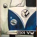 Akril festmény VW kisbusz (falikép), Kézzel készült akril festmény. Ötletes ajánd...