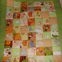 Patchwork ágytakaró 90x180cm, Baba-mama-gyerek, Gyerekszoba, Falvédő, takaró, Varrás, Patchwork, foltvarrás, gyerekmintás anyagokból készítettem ezeket a gyerektakarókat,  játszószőnyegeket. A képen korábban ..., Meska