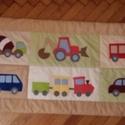 patchwork falvédő, Baba-mama-gyerek, Otthon, lakberendezés, Gyerekszoba, Falvédő, takaró, Varrás, fotlvarrás technikával készítettem ezt a  gyerekmintás  falvédőt, mérete 68x 190cm 3 rétegű, a háto..., Meska