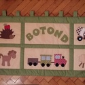 patchwork falvédő, Baba-mama-gyerek, Otthon, lakberendezés, Gyerekszoba, Falvédő, takaró, fotlvarrás technikával készítettem ezt a  gyerekmntás falvédőt, mérete 68x 180cm 3 rétegű,..., Meska