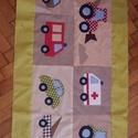 patchwork járműves falvédő, Baba-mama-gyerek, Dekoráció, 65x 160cm-es járműves applikációval készült falvédő, Meska