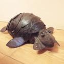 Teknős, Képzőművészet, Szobor, Fém, Fémmegmunkálás, Újrahasznosított alapanyagból készült termékek, Állatvariációim közül kissé robusztus darab a teknős. Újrahasznosított  vas-acél darabokból készült..., Meska