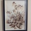 Falra akasztható képek, Otthon & Lakás, Dekoráció, Kép & Falikép, Famegmunkálás, 30 x 20 x 0,6 cm méretű rétegelt falapból készült faliképek. A rajzok sajátkezűleg készülnek, pirog..., Meska