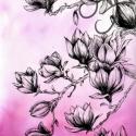 Magnólia -Akció-, Képzőművészet, Dekoráció, Festmény, Kép, Fotó, grafika, rajz, illusztráció, Festészet, Kellemes, könnyed és egyszerű kép a csodálatos magnólia fa virágairól. Nincs túlbonyolítva vagy elt..., Meska