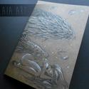 Angyal Skiccfüzet, Naptár, képeslap, album, Jegyzetfüzet, napló, A/5-ös méretű, puha kötésű, 42 lapos, üres, sárgás lapú, egyedi füzet. Vázlatfüzetek, s..., Meska