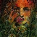Rúna Boszorka, Képzőművészet, Festmény, Akvarell, Grafika, Festészet, Fotó, grafika, rajz, illusztráció, A hatalmas tudással és varázserővel rendelkező északi boszorkány, aki a rúnák erejét használja.   3..., Meska