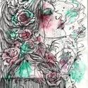Wildrose, Képzőművészet, Festmény, Akvarell, 24x32 cm-es akvarellel és tussal készült kép, Meska