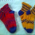 Kockás zokni - AKCIÓ, Ruha, divat, cipő, Női ruha, 38-39-es női zokni, fodros széllel. Gyapjú keverék fonalból készült. Másmilyen színben is r..., Meska