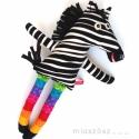 Zebulon szivárványos harisnyában , Játék, Baba-mama-gyerek, Plüssállat, rongyjáték, Játékfigura, Babajátéknak, de akár gyermek lelkű felnőttek számára is egyaránt alkalmas ajándék ez a nevetős zebr..., Meska
