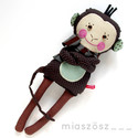 Mirkó, csíkos harisnyás majmocska, Játék, Baba-mama-gyerek, Plüssállat, rongyjáték, Játékfigura, Pamut anyagokból varrtam ezt a jókedvű majmot, saját dizájn alapján.  Minden apró részlet alapos gon..., Meska