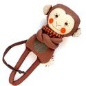 Mirkó, csíkos harisnyás majmocska - majom fiú, Pamut anyagokból varrtam ezt a jókedvű majmot, ...