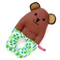 Medve csörgő babakézbe - Öko-Tex pamut narancs fehér napsárga türkiz, szívecskés, Játék, Baba-mama-gyerek, Baba játék, Játékfigura, Öko-Tex szabványnak megfelelő, egészségre káros anyagokkal nem kezelt, 100% pamut anyagokból varrtam..., Meska