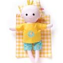 Pelenkázható puha kisbaba pizsamában - öltöztetős, sárga, türkiz. fagyis, pelenkás, Játék, Baba-mama-gyerek, Baba, babaház, Baba játék, Pamut anyagokból varrtam ezt a mosolygós kisbabát, saját dizájn alapján.   Pelenkás babáinkat ajánlj..., Meska