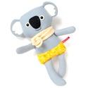 Móz koala legény - szürke, antracit, napsárga, Játék, Baba-mama-gyerek, Plüssállat, rongyjáték, Játékfigura, Pamut anyagokból varrtam ezt a jókedvű koalát, saját dizájn alapján.  Minden apró részlet alapos gon..., Meska