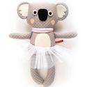Manka, pettyes koala lány tütüben - szürke, barackrózsaszín, fehér, Játék, Baba-mama-gyerek, Plüssállat, rongyjáték, Játékfigura, Pamut anyagokból varrtam ezt a jókedvű koalát, saját dizájn alapján.  Minden apró részlet alapos gon..., Meska