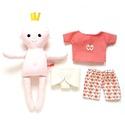 Pelenkázható puha kisbaba pizsamában - öltöztető, Játék, Baba-mama-gyerek, Baba, babaház, Baba játék, Pamut anyagokból varrtam ezt a mosolygós kisbabát, saját dizájn alapján.   Pelenkás babáinkat ajánlj..., Meska