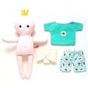 Pelenkázható baba repülős pizsamában - öltöztethető, Játék, Baba-mama-gyerek, Baba, babaház, Baba játék, Pamut anyagokból varrtam ezt a mosolygós kisbabát, saját dizájn alapján.   Pelenkás babáinkat ajánlj..., Meska