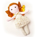 Miaszösz nagy angyal, őrzőangyal - öltöztethető textilbaba, levehető arany szárnyakkal, Játék, Baba-mama-gyerek, Plüssállat, rongyjáték, Játékfigura, Pamut és filc anyagokból varrtam ezt az angyalt, saját dizájn alapján.   Angyalkámhoz gumis derekú s..., Meska