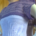lila bűvölet (rendelésre), Ruha, divat, cipő, Női ruha, Blúz, Felsőrész, póló, Kötés, Horgolás, 38-40-es méretű kézzel kötött lila mintás blúz. Akril és gyapjú fonal keverékéből készült, fonatos ..., Meska