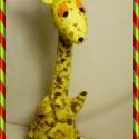 Zsiráf kézbáb, Baba-mama-gyerek, Játék, Báb, Játékfigura, A zsiráfot gyerekek, felnőttek egyaránt kedvelik. Így született meg ez a figurám az elefánt u..., Meska