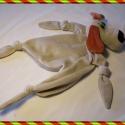 Rongyi kutyuska, Baba-mama-gyerek, Játék, Gyerekszoba, Baba játék, Baba-és bábkészítés, Varrás, Ez a kutyus peluspótló, újszülöttek, nagyobb gyerekek kabalája. Lehet rágcsálni, vele aludni. Anyag..., Meska